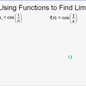 Using a Function to Find a Limit