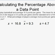 Calculating the Percentage Above a Data Point