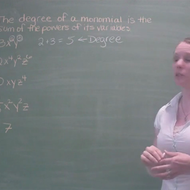 Degree in Monomials