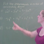 Ordering Polynomial Expressions