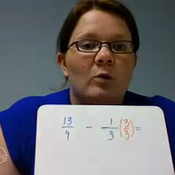 Subtracting Fractions with Unlike Denominators Regrouping