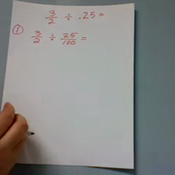 Dividing Fractions by Decimals