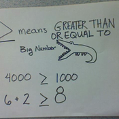 The Greater Than or Equal to Sign
