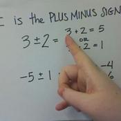 The Plus Minus Sign