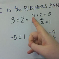The Plus Minus Sign