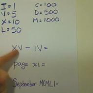 Reading Roman Numerals