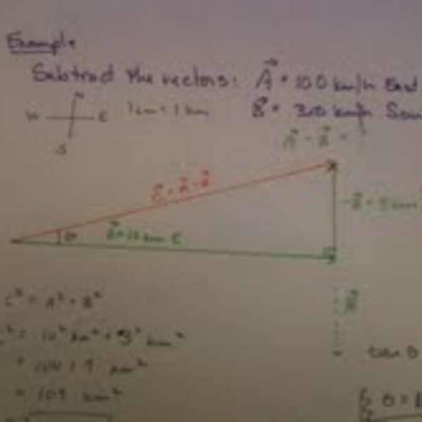 Subtracting Vectors Using the Tail-to-Tip Method