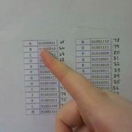 Binary Code for Alphabet
