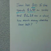 Decimal Subtraction in Word Problems
