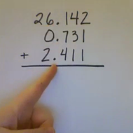 Adding Multiple Decimals