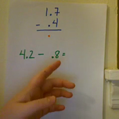 Subtracting Tenths from a Whole