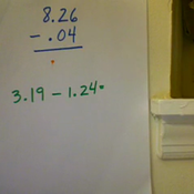 Subtracting Hundredths from a Whole