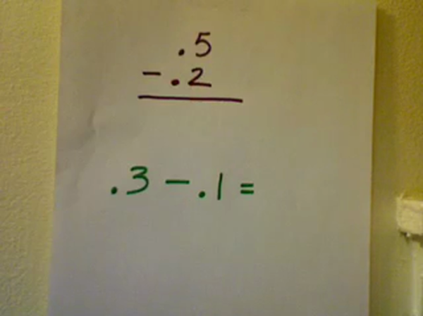 Subtracting Tenths from Tenths