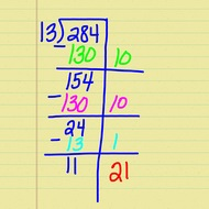 Division 3 digit by 2 digit with a remainder
