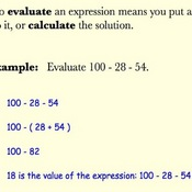Evaluating an Expression