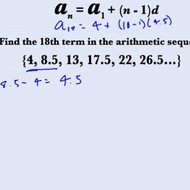 Finding Unknown Values in Arithmetic Sequences