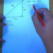 Identifying Trigonometric Ratios from a Right Triangle