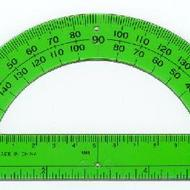 How to use a protractor.