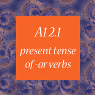 A1 2 1 - Present Tense of -AR Verbs Tutorial | Sophia Learning
