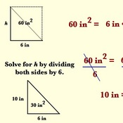 Solving Height or Base of a Triangle given its Area