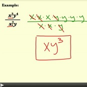 Divide Monomial Expressions with Exponents
