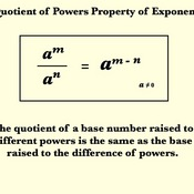 Quotient of a Power Property for Exponents