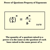 Power of Quotients Property for Exponents Tutorials, Quizzes, and ...
