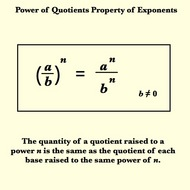 Power of Quotients Property for Exponents