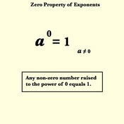 Zero Exponents Property for Exponents