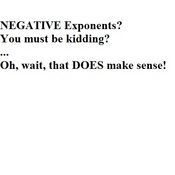 Negative Exponent Property for Exponents