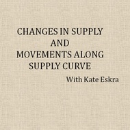 Changes in Supply and Movements along Supply Curve