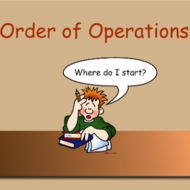 Pre-Algebra Lesson 1.2: Order of Operations