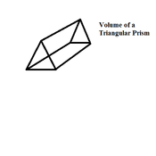 Finding a Formula for the Volume of a Triangular Prism