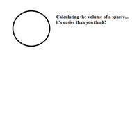 Calculating the Volume of a Sphere.
