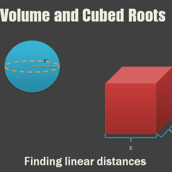 Volume and Cubed Roots