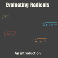 Evaluating Radicals