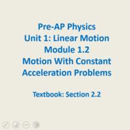 Module 1.2 - MWCA Problems