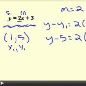 Writing Linear Equations in Point-Slope Form