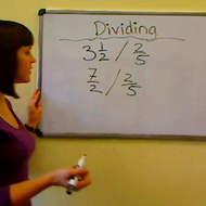 Dividing Mixed Numbers by Fractions