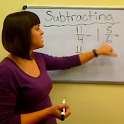 Subtracting Mixed Numbers from Fractions