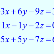 Systems of 3 Equations