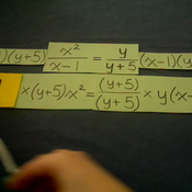Solving Algebraic Fraction Equations