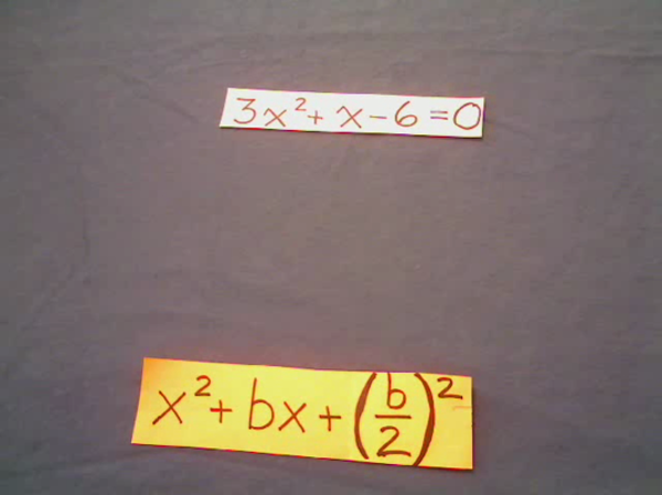 Completing the Square with a Coefficient