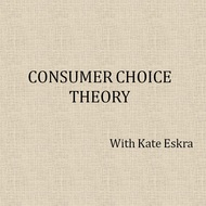 Consumer Choice Theory