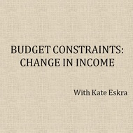 Budget Constraints: Change in Income