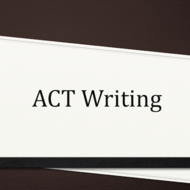 ACT Writing Test: The Body of the Essay
