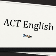 Usage on the ACT English Test