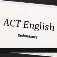 Redundancy on the ACT English Test