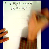 Practice Solving Absolute Value Equations