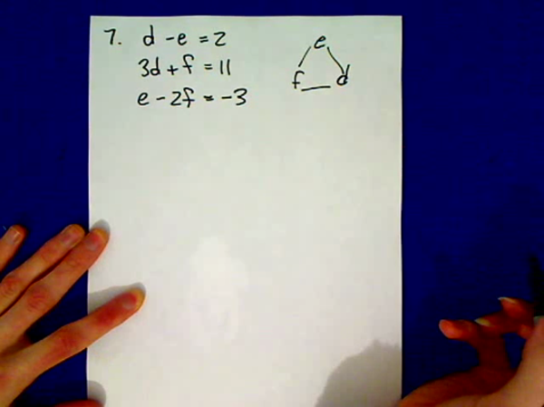 Practice Three Variable Simultaneous Equations